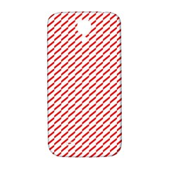 Pattern Red White Background Samsung Galaxy S4 I9500/I9505  Hardshell Back Case