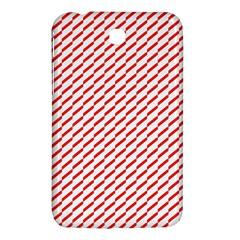 Pattern Red White Background Samsung Galaxy Tab 3 (7 ) P3200 Hardshell Case