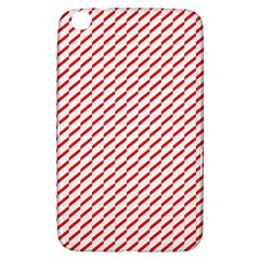 Pattern Red White Background Samsung Galaxy Tab 3 (8 ) T3100 Hardshell Case