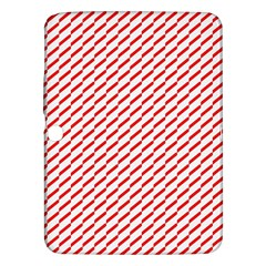 Pattern Red White Background Samsung Galaxy Tab 3 (10.1 ) P5200 Hardshell Case