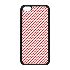 Pattern Red White Background Apple iPhone 5C Seamless Case (Black)