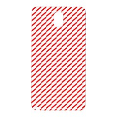 Pattern Red White Background Samsung Galaxy Note 3 N9005 Hardshell Back Case