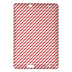 Pattern Red White Background Amazon Kindle Fire HD (2013) Hardshell Case