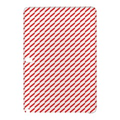 Pattern Red White Background Samsung Galaxy Tab Pro 12.2 Hardshell Case