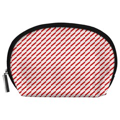 Pattern Red White Background Accessory Pouches (Large)
