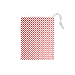 Pattern Red White Background Drawstring Pouches (Small)