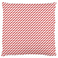 Pattern Red White Background Large Flano Cushion Case (One Side)