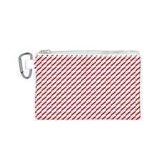 Pattern Red White Background Canvas Cosmetic Bag (S)