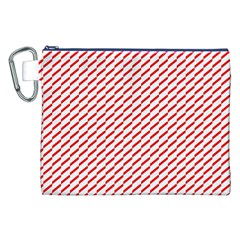 Pattern Red White Background Canvas Cosmetic Bag (XXL)