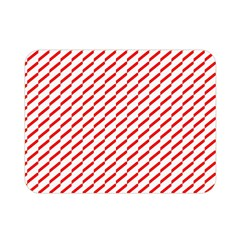 Pattern Red White Background Double Sided Flano Blanket (Mini)