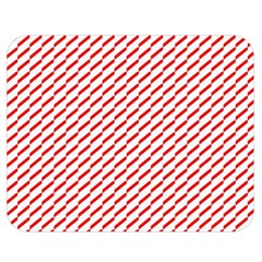 Pattern Red White Background Double Sided Flano Blanket (medium)