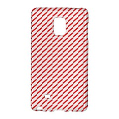Pattern Red White Background Galaxy Note Edge