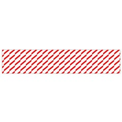 Pattern Red White Background Flano Scarf (Small)