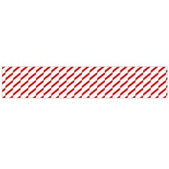 Pattern Red White Background Flano Scarf (Large)
