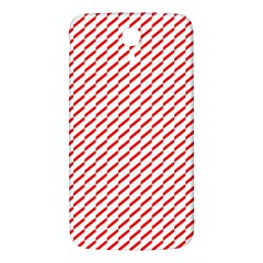 Pattern Red White Background Samsung Galaxy Mega I9200 Hardshell Back Case