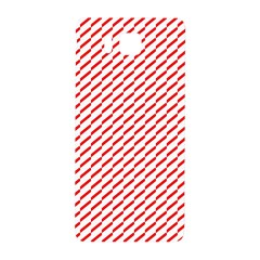 Pattern Red White Background Samsung Galaxy Alpha Hardshell Back Case