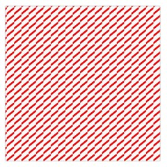 Pattern Red White Background Large Satin Scarf (Square)