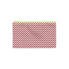 Pattern Red White Background Cosmetic Bag (XS)