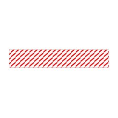 Pattern Red White Background Flano Scarf (mini)
