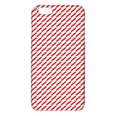 Pattern Red White Background iPhone 6 Plus/6S Plus TPU Case