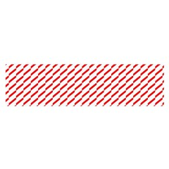 Pattern Red White Background Satin Scarf (Oblong)