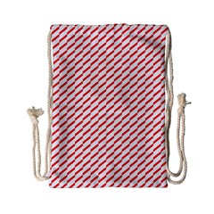 Pattern Red White Background Drawstring Bag (Small)