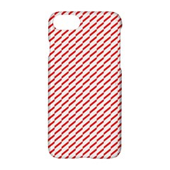 Pattern Red White Background Apple Iphone 7 Hardshell Case