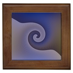 Logo Wave Design Abstract Framed Tiles