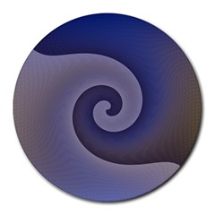Logo Wave Design Abstract Round Mousepads