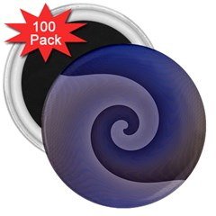 Logo Wave Design Abstract 3  Magnets (100 pack)