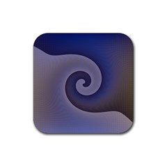 Logo Wave Design Abstract Rubber Square Coaster (4 pack)