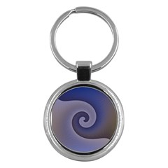Logo Wave Design Abstract Key Chains (round)