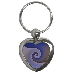 Logo Wave Design Abstract Key Chains (Heart)