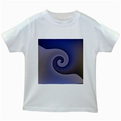 Logo Wave Design Abstract Kids White T-Shirts