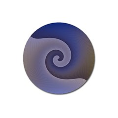 Logo Wave Design Abstract Magnet 3  (Round)
