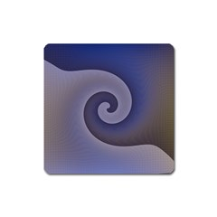 Logo Wave Design Abstract Square Magnet