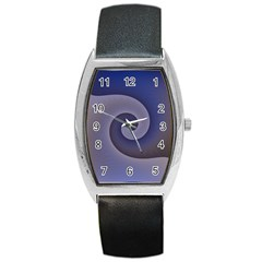 Logo Wave Design Abstract Barrel Style Metal Watch