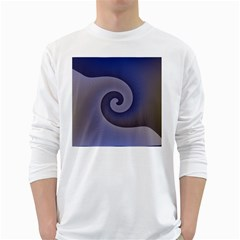 Logo Wave Design Abstract White Long Sleeve T-Shirts