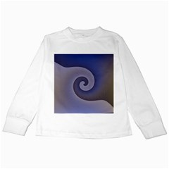 Logo Wave Design Abstract Kids Long Sleeve T Shirts