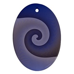Logo Wave Design Abstract Oval Ornament (Two Sides)