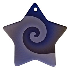 Logo Wave Design Abstract Star Ornament (two Sides)