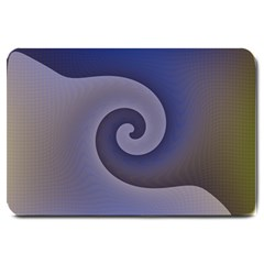 Logo Wave Design Abstract Large Doormat
