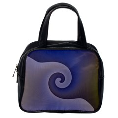 Logo Wave Design Abstract Classic Handbags (One Side)