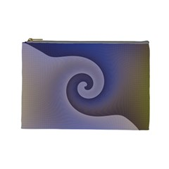 Logo Wave Design Abstract Cosmetic Bag (large)