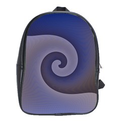 Logo Wave Design Abstract School Bags(Large)