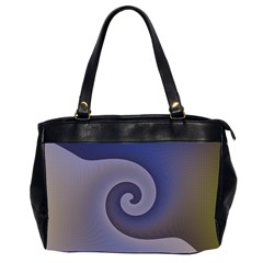Logo Wave Design Abstract Office Handbags (2 Sides)