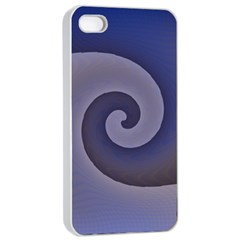 Logo Wave Design Abstract Apple Iphone 4/4s Seamless Case (white)