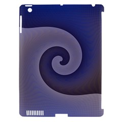 Logo Wave Design Abstract Apple iPad 3/4 Hardshell Case (Compatible with Smart Cover)