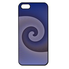 Logo Wave Design Abstract Apple iPhone 5 Seamless Case (Black)