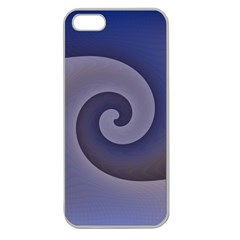 Logo Wave Design Abstract Apple Seamless iPhone 5 Case (Clear)